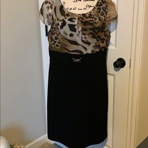 Alyx Dress Leopard Print Top Size 16